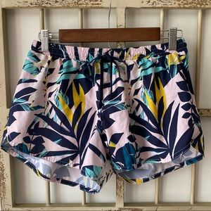Old Navy Pink Tropical Floral Running Shorts